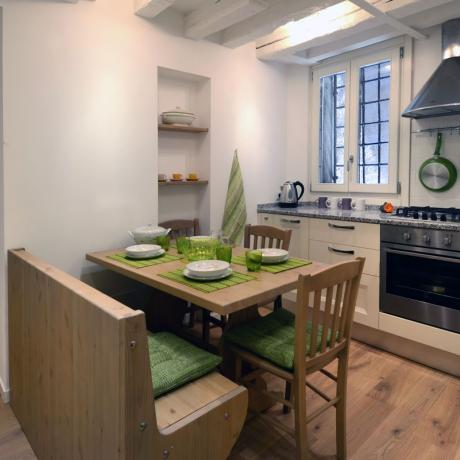 The modern kitchen at Ca' Fonterotonda apartment