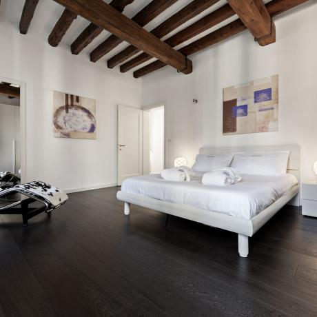 Modern master bedroom at Fidelio apartment