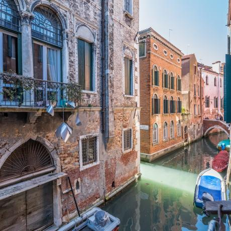 The charming canal view from Ponte Storto apartment