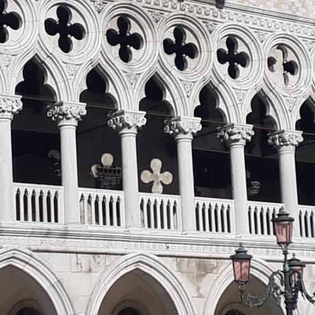 The beautiful façade of the Doges Palace