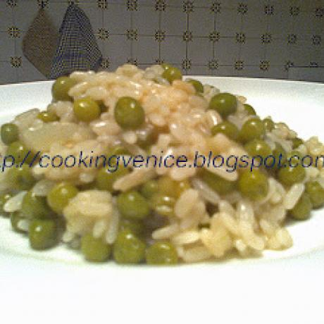 Plate of rice and peas