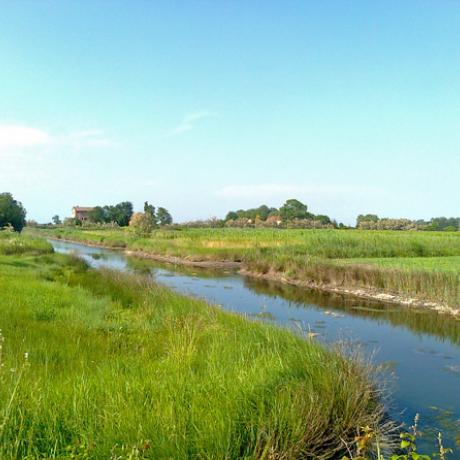 Beautiful countryside at Sant'Erasmo island in the Venetian lagoon