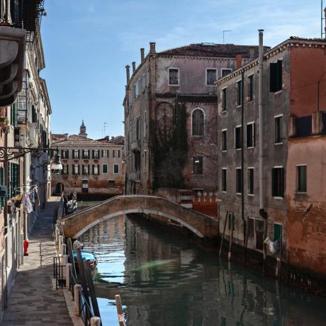 The lovely canal by apartment Santa Fosca in Cannaregio Venice
