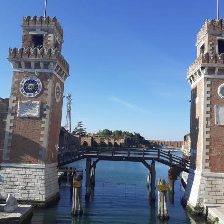 The stunning Arsenale in Venice