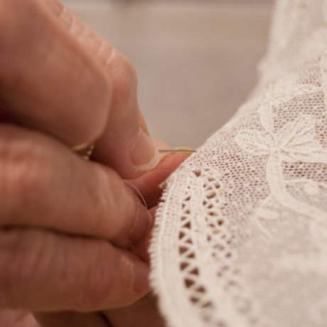 A beautiful detail of Burano lacework