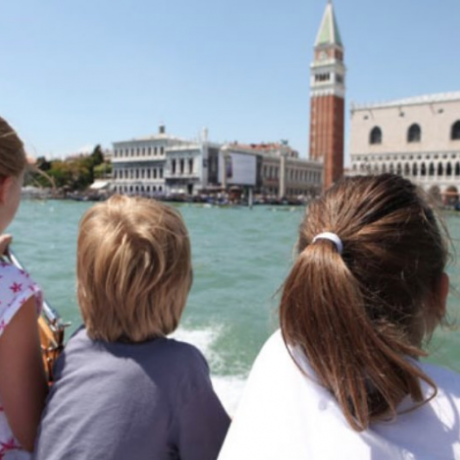 Venice is always a wonder for kids!